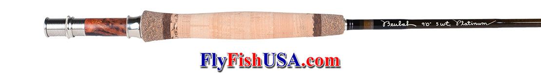 Beulah Platinum PL590-4 fly fishing rod, showing the handle.