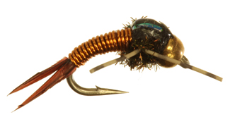 Bead Head Rubber Leg Copper Bob Bead Head Rubber Leg Copper Bob