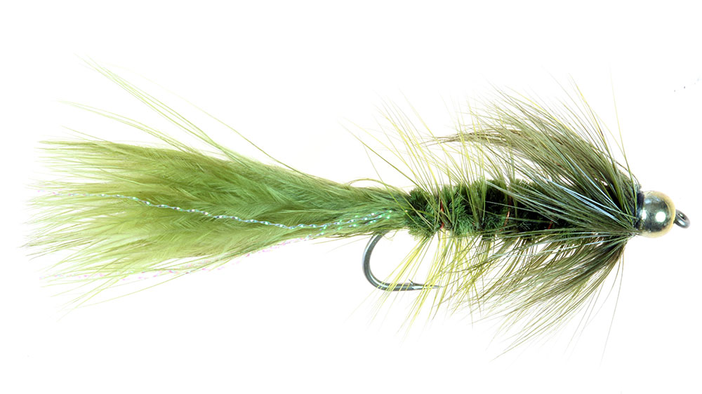 Olive bead head wooly bugger fly