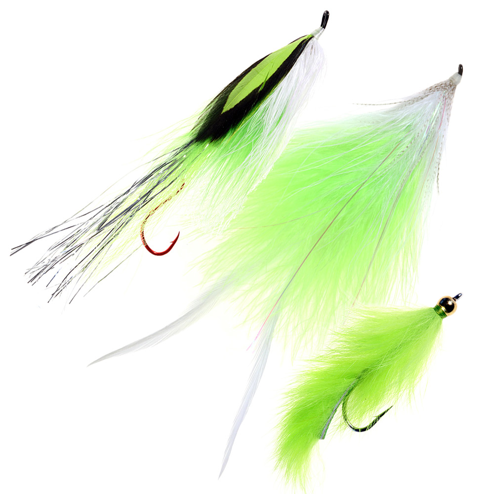 Chartreuse Fly Chinook Equalizer Set Chartreuse Fly Chinook Equalizer Set