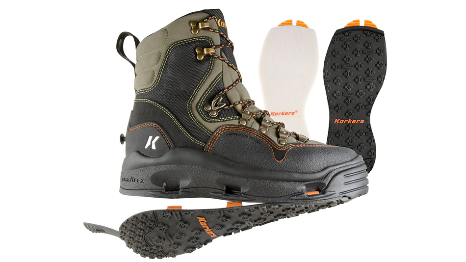 Korkers K-5 Bomber Changeable Traction Wading Shoes Korkers K-5 Bomber Changeable Traction Wading Shoes