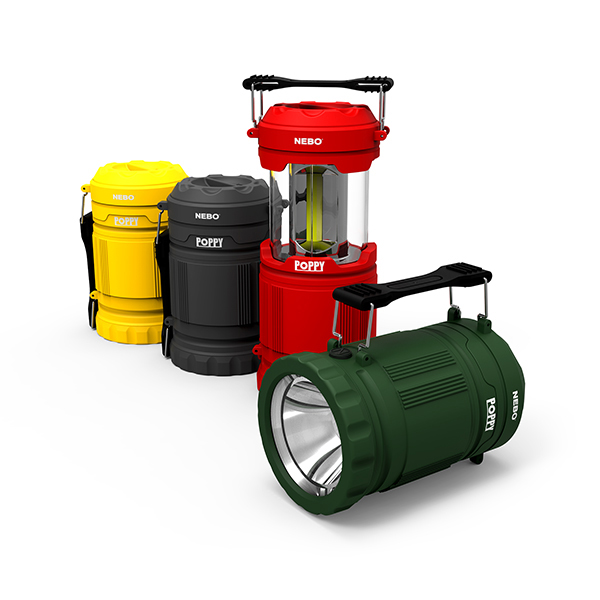 Nebo Poppy lantern and spotlight in assorted colors