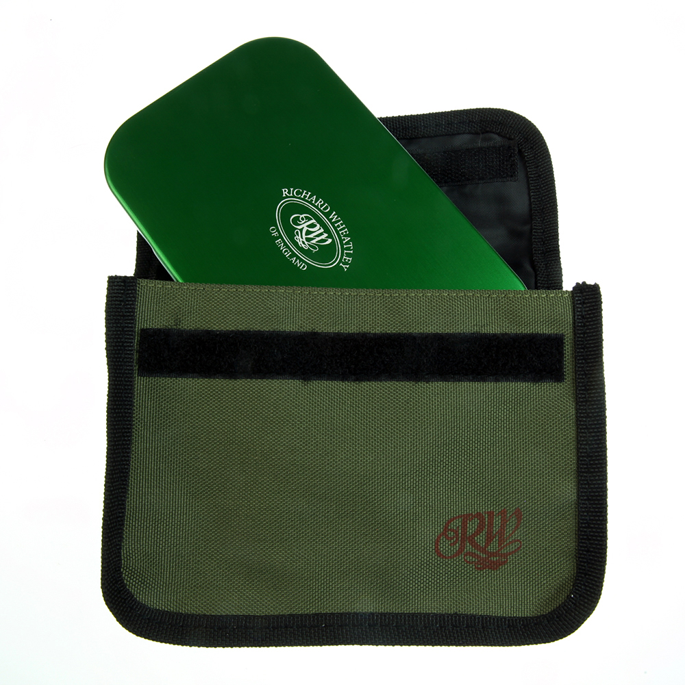 Wheatley fly box pouch, front view with fly box