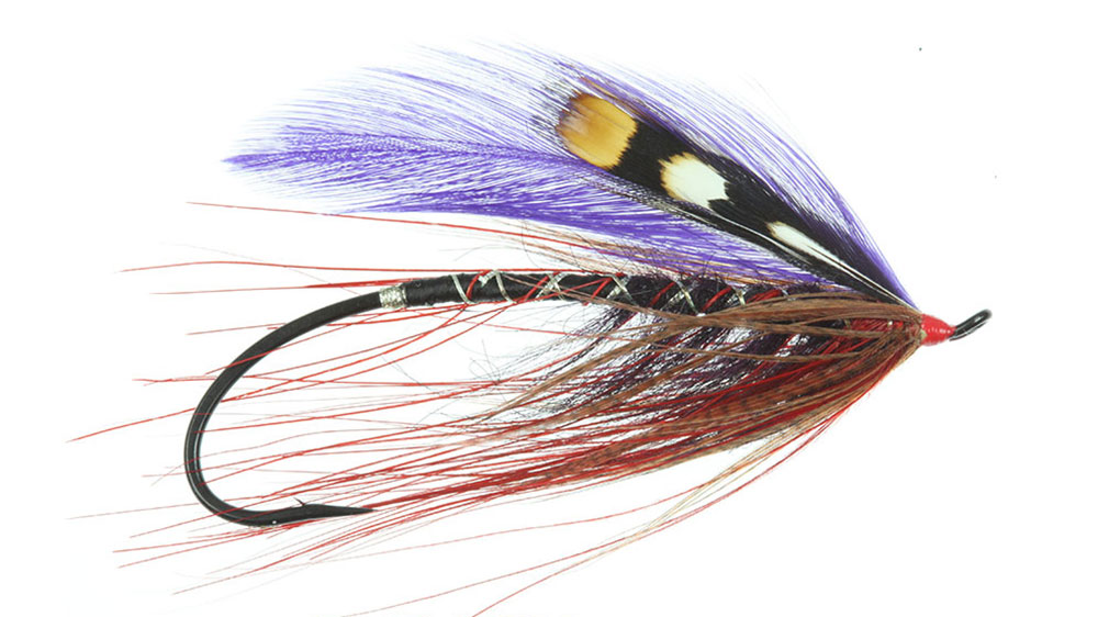 A fly tied on an Alec Jackson Hook