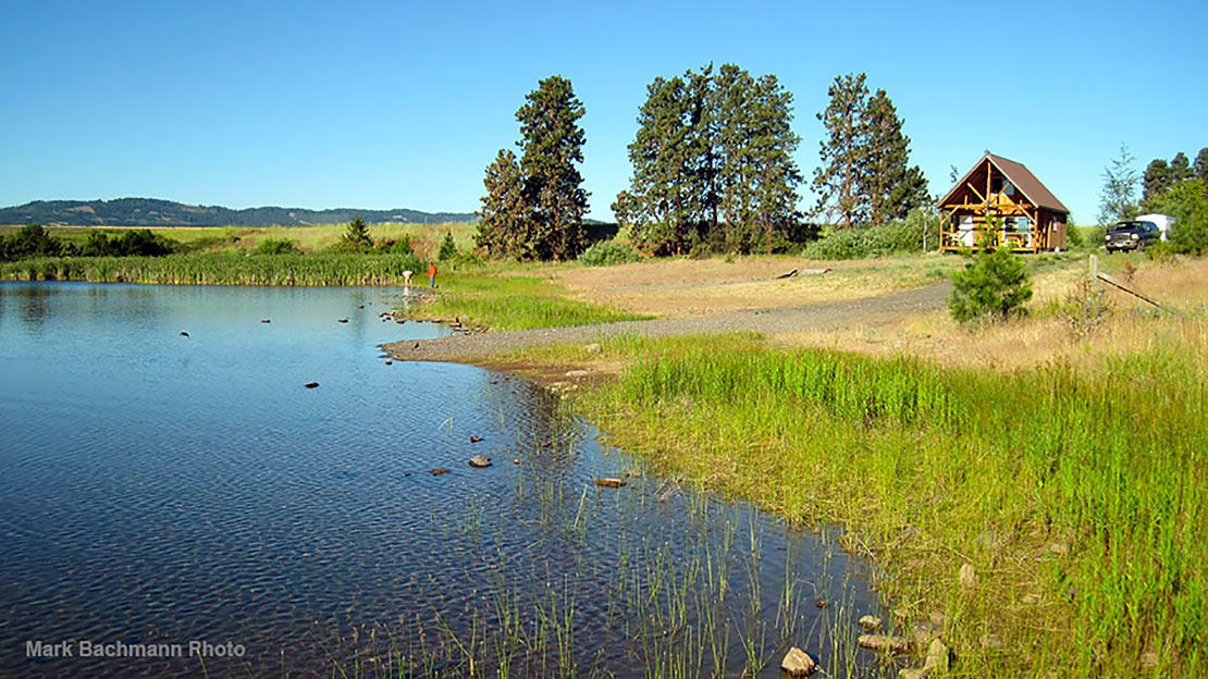 This is Wild Rose Lake on Rocky Ridge Ranch in Central Oregon.
