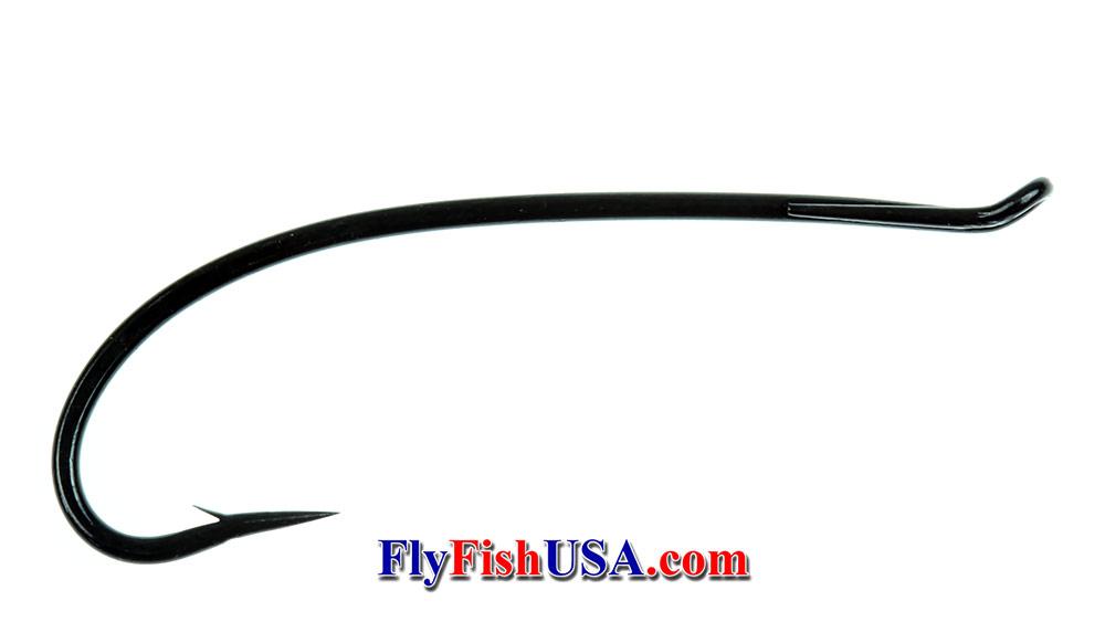 Alec Jackson Spey Hook, heavy wire, black, picture