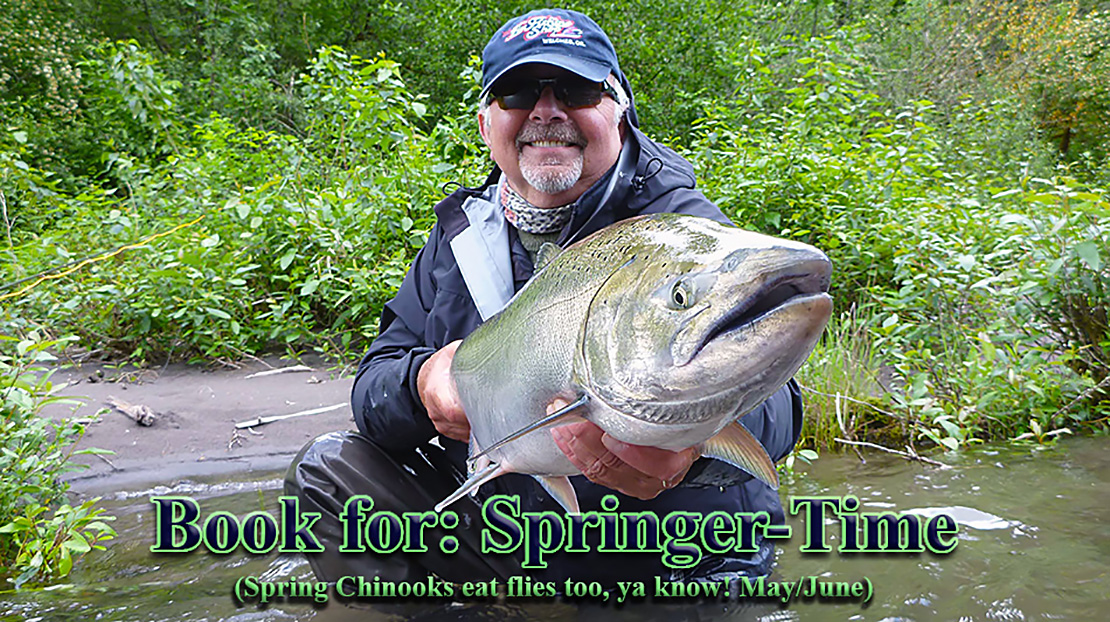 Guided Fly Fishing Trips: Oregon Spring Chinooks