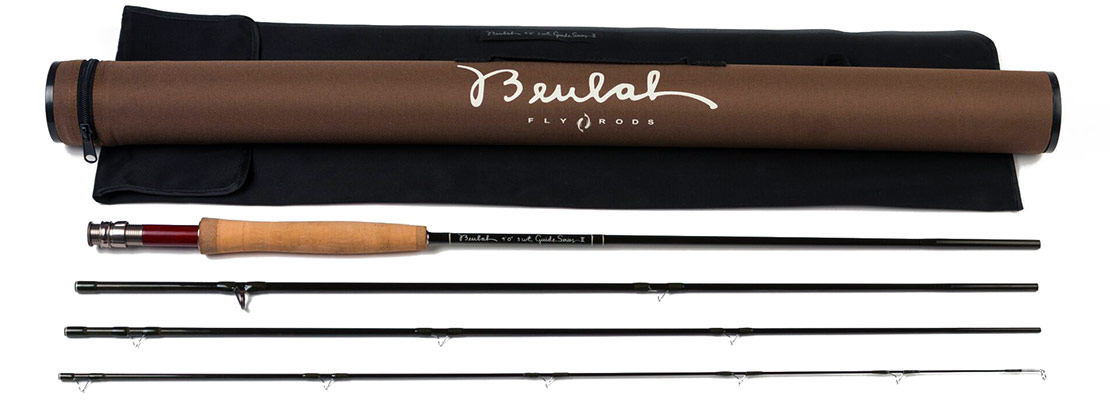 Beulah Guide Series II rods come with a hard case and sock.