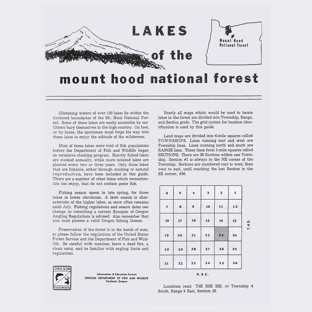 Mt. Hood National Forest Map - Mt hood National Forest Map