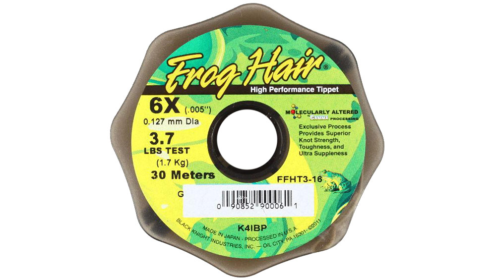 Frog Hair Copolymer tippet material, picture