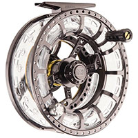 Hardy ASR Fly Reel, quartering front view