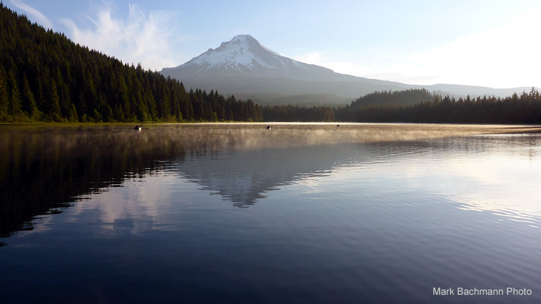 Photo of Trillium Lake near Mt. Hood in Oregon.