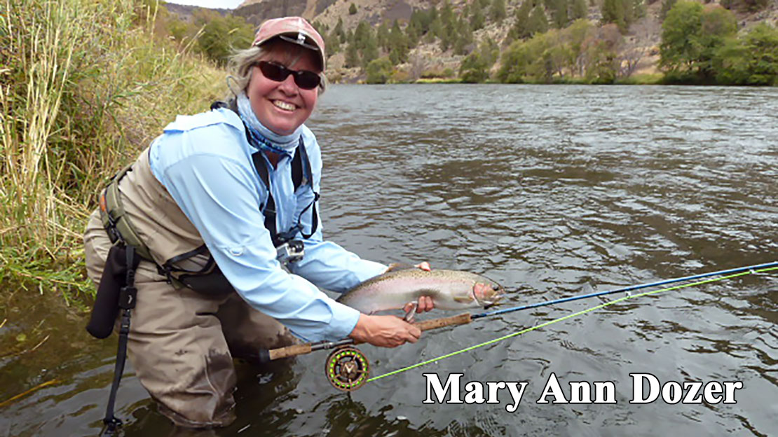 Mary Ann Dozer with a beautiful rainbow
