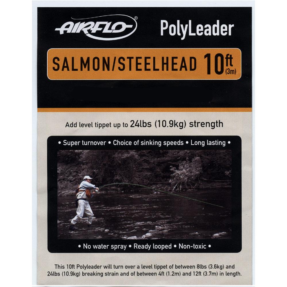 Airflo Polyleader Salmon /& Steelhead environ 1.52 m - Clair Intermédiaire 5 FT