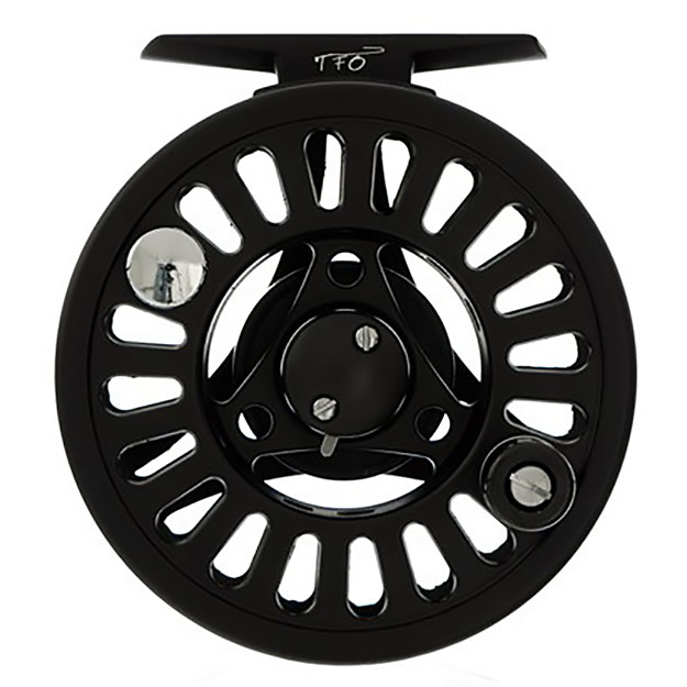 TFO Prism 911 Best Buy Large Arbor Spey Reel, front, picture