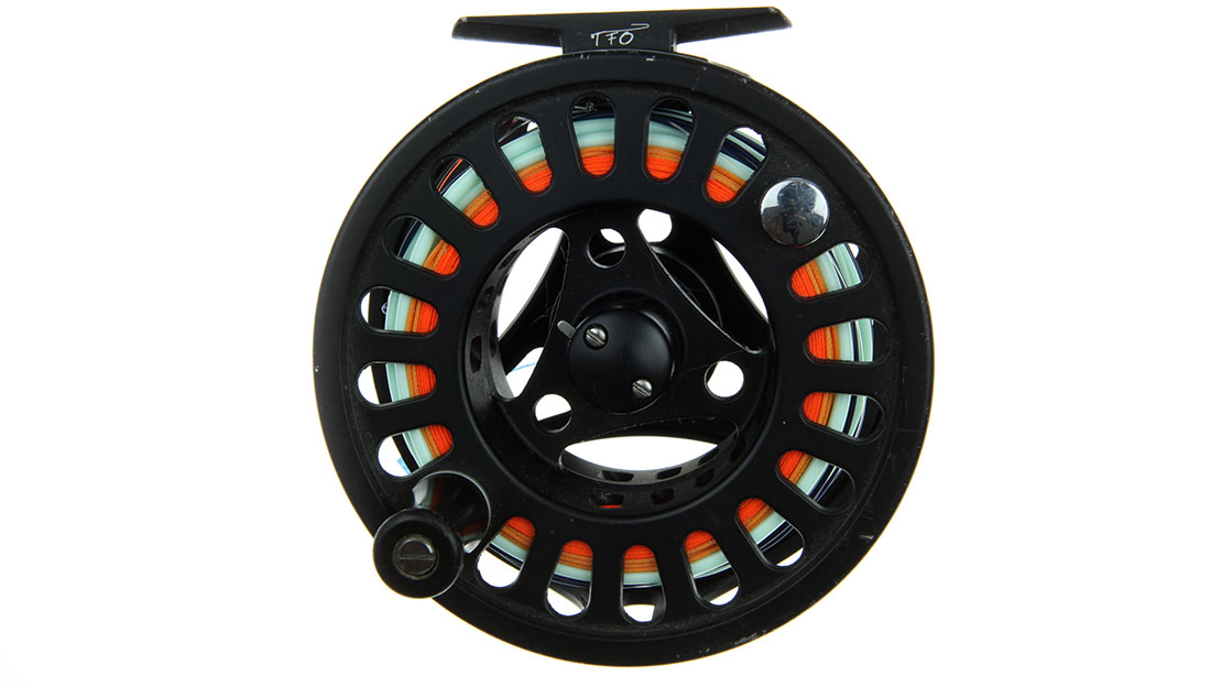 This TFO Prism reel belongs to professional fishing guide, Tony Barnes who has used it since 2011.