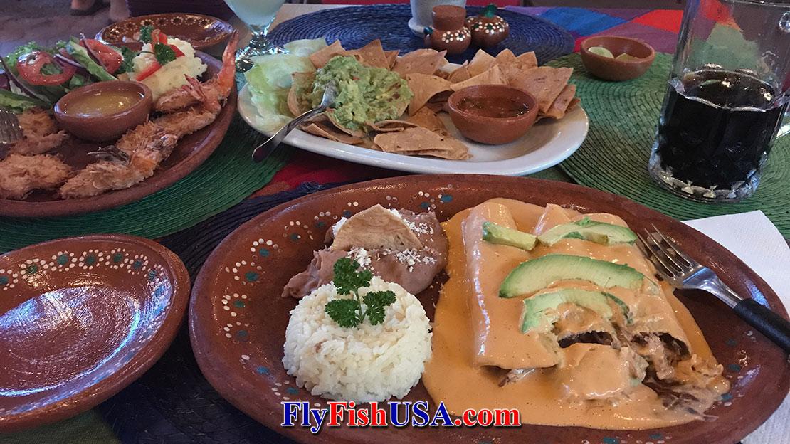 Dinner at Orlando's in Loreto, Mexico.