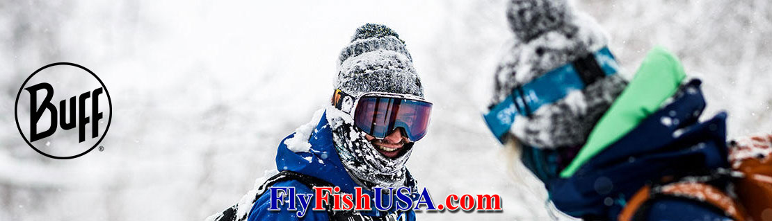 Buffs can be worn while skiing for fishing for winter steelhead.