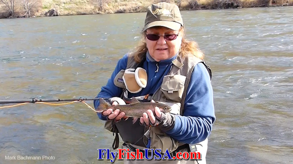Patty Barnes test the Echo Shadow II Euro nymph rod on Oregon's Deschutes River.