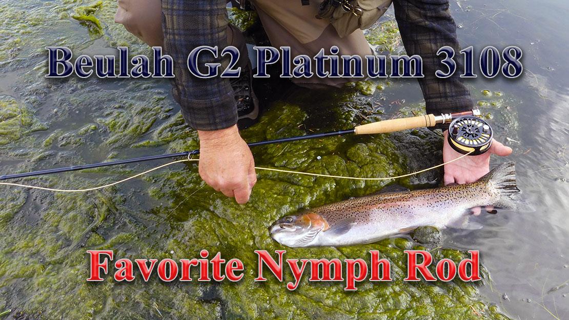 """3 weight 10' 8"""" Beulah G2 Platinum fly Rod"""