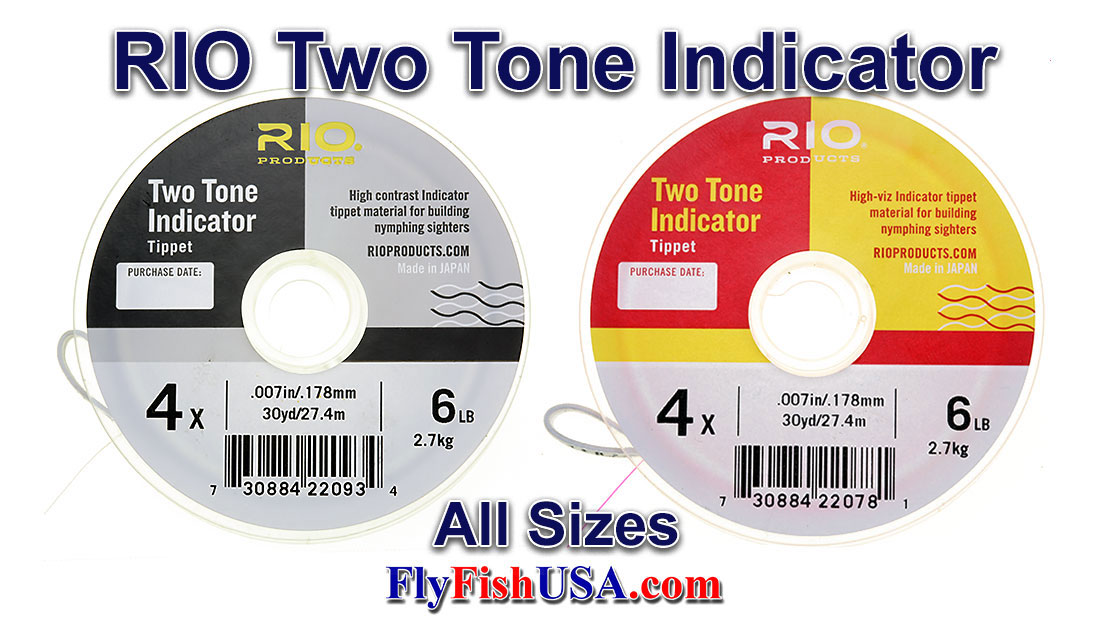 RIO 2-Tone Indicator Leader, Pink & Chartreuse