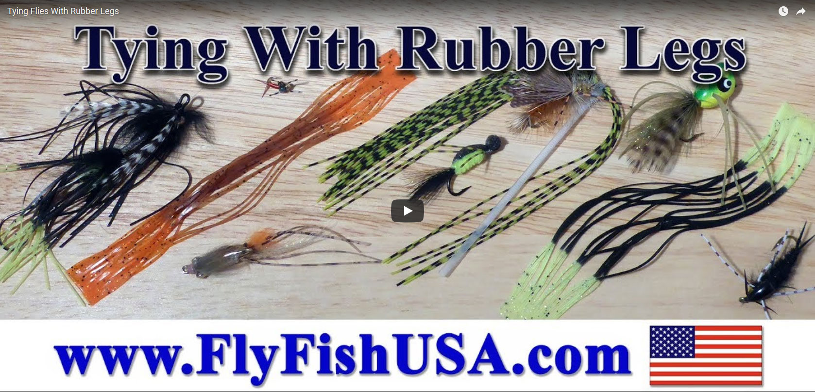 Tying Flies with Rubber Legs video