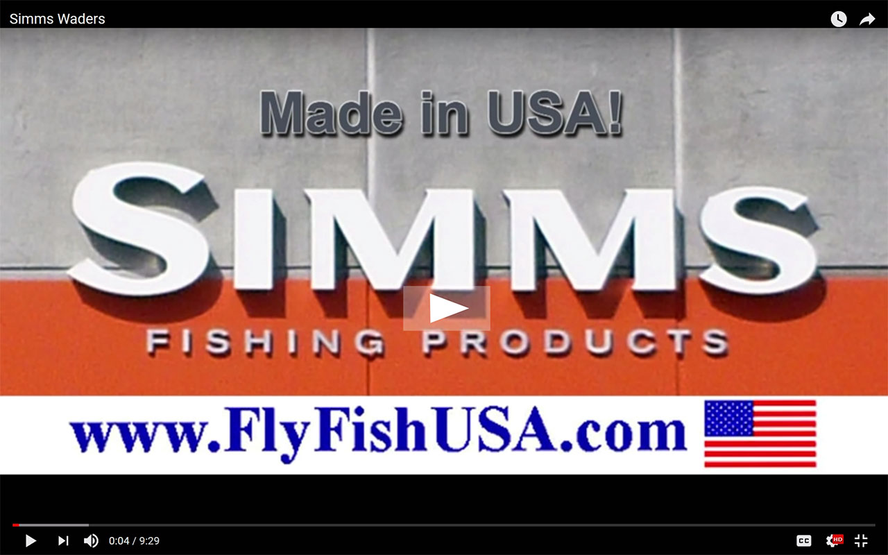 Simms waders video by the Fly Fishing Shop